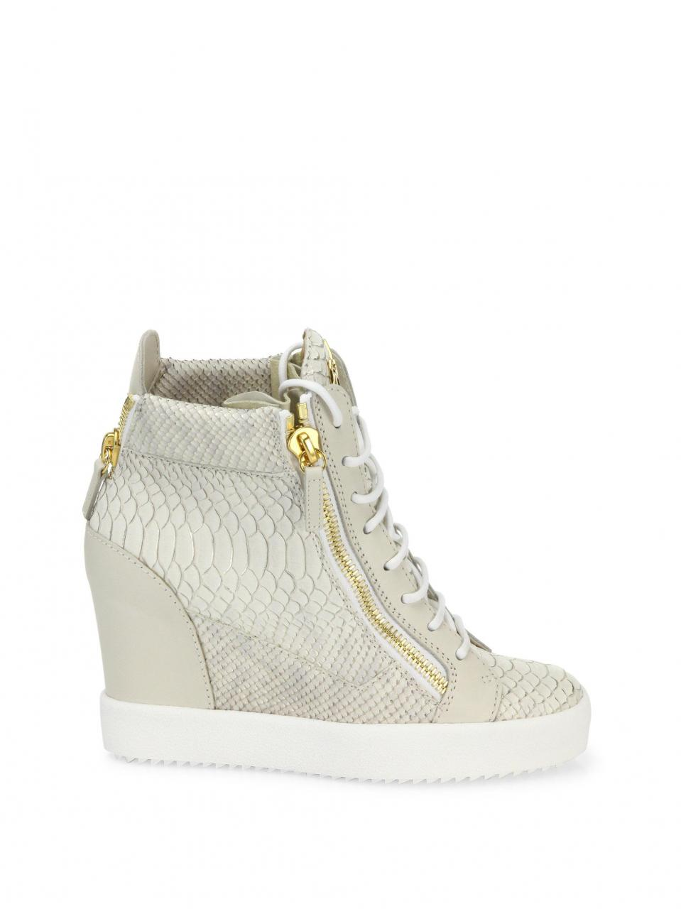 Giuseppe Zanotti | Multicolor Lamaylorenz Leather Wedge Sneakers | Lyst