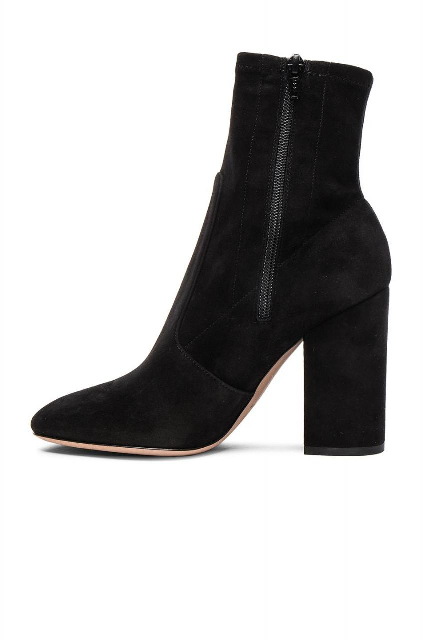 Valentino | Black Suede Booties | Lyst