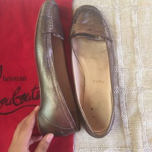 Christian Louboutin Shoes - *authentic* Louboutin silver loafers